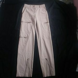 CELINE WOOL PANTS W ZIP UP POCKETS ON THIGHS,  4